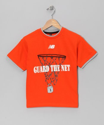 Orange 'Guard the Net' Tee - Boys