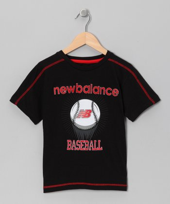 Black 'Baseball' Tee - Boys