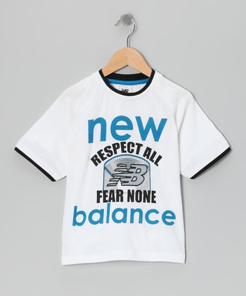 White 'New Balance' Tee - Boys