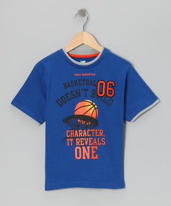 Royal 'Basketball 06' Tee - Boys
