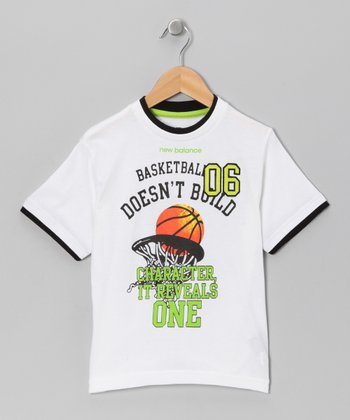 White 'Basketball 06' Tee - Boys
