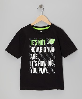Black 'It's Not How Big You Are' Tee - Boys