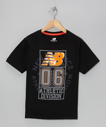 Charcoal & Orange Logo Tee - Boys