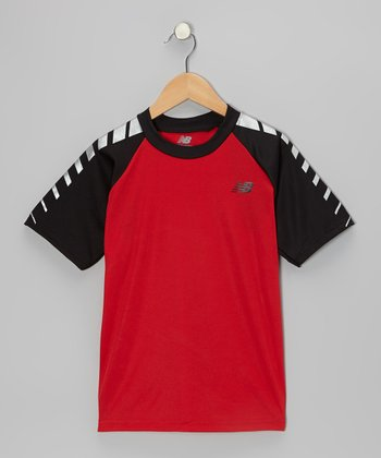 Red Performance Tee - Boys