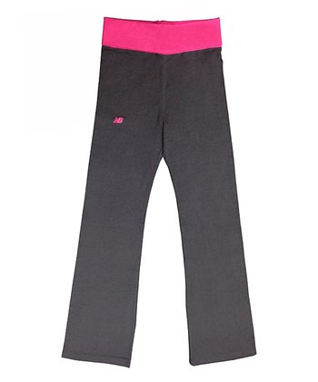 Pink Glo Fold-Over Yoga Pants