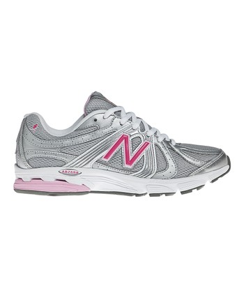 Gray & Pink 615 Walking Shoe - Women