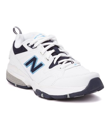 White & Navy WX609 Athletic Shoe - Women