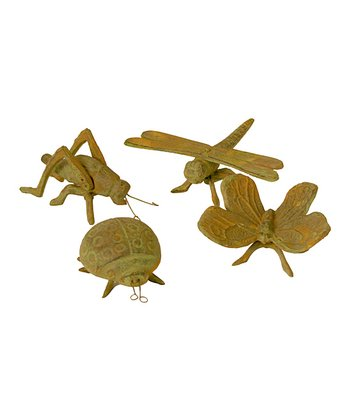 Yellow Insect Figurine Set