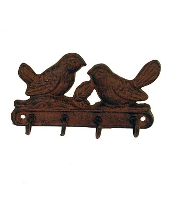 Rust Bird Family Wall Hook
