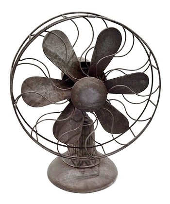 Antique Metal Fan Décor