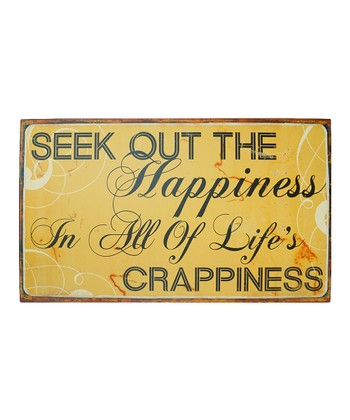 'Happiness' Metal Sign