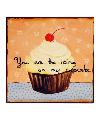 Cherry Cupcake Metal Sign