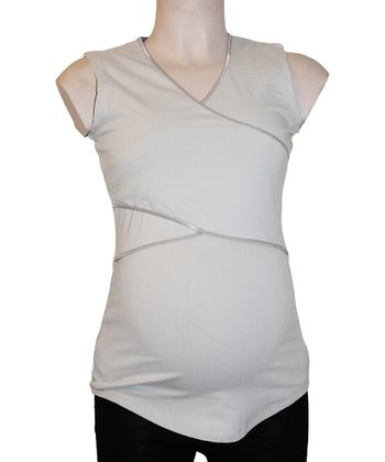 Gray Maternity & Nursing Sleeveless Top