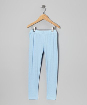 Light Blue Leggings - Toddler & Girls