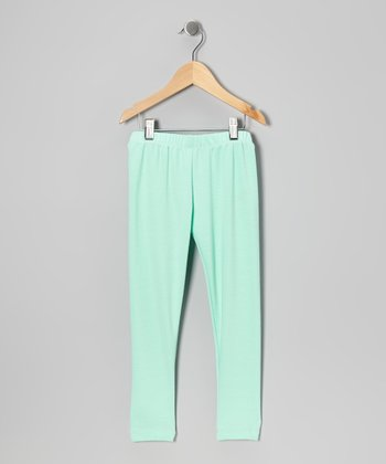 Mint Leggings - Toddler & Girls