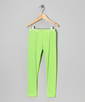 Neon Green Leggings - Toddler & Girls