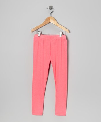 Neon Pink Leggings - Toddler & Girls