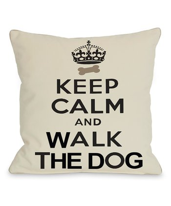 Ivory & Black 'Keep Calm' Throw Pillow