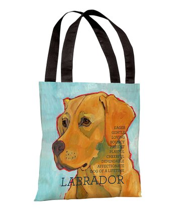 Light Blue & Yellow Labrador Tote