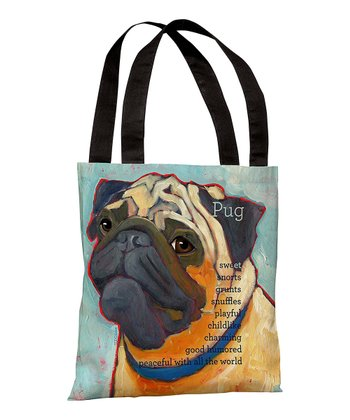 Light Blue 'Pug' Tote