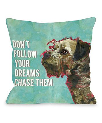 Turquoise 'Don't Follow' Throw Pillow