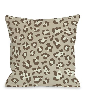 Natural Gabriella Cheetah Pillow