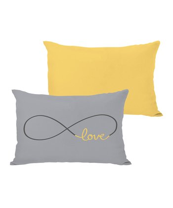 Mimosa & Gray 'Love' Throw Pillow