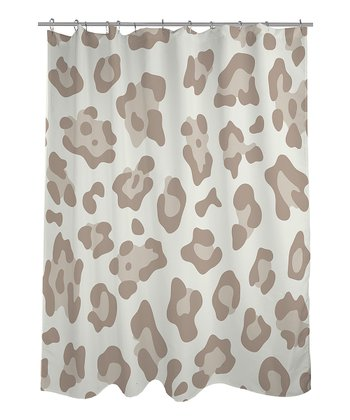 Ivory & Oatmeal Leopard Shower Curtain
