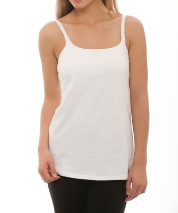 White Nursing Camisole - Women & Plus