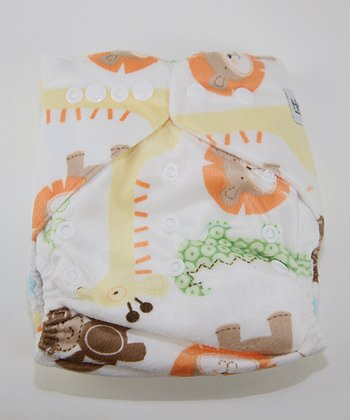 Safari Fun Minky Pocket Diaper