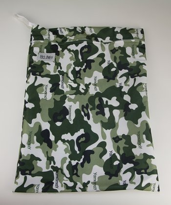 Army Minky Wet Bag