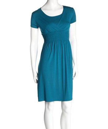 Teal Surplice Nursing Dress