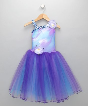 Purple Flower Tutu Dress