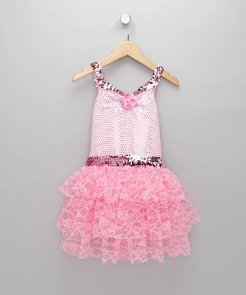 Pink Bejeweled Tutu Dress
