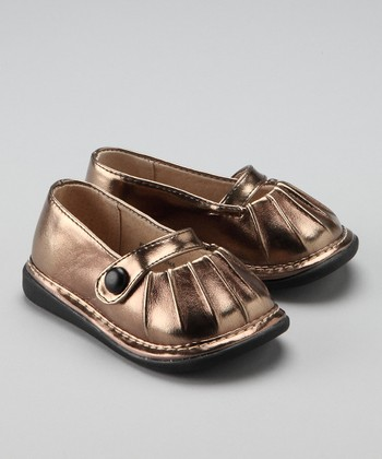 Bronze Chloe Metallic Squeaker Shoe