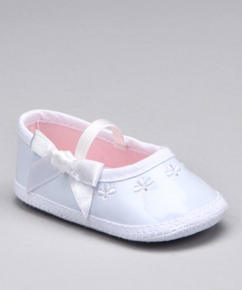 White Patent Mary Jane Crib Shoe