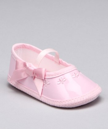 Pink Patent Mary Jane Crib Shoe
