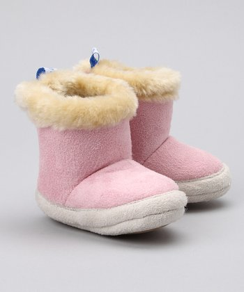 Pink Faux Fur Boot