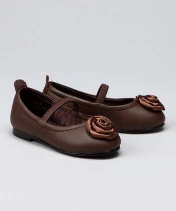 Brown Flower Flat