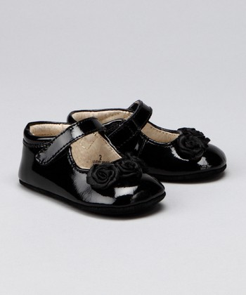Black Patent Rosette Mary Jane