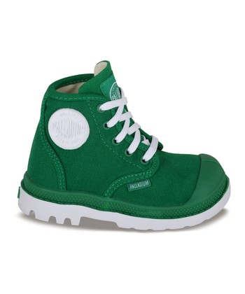 Green & White Pampa Hi-Top Sneaker
