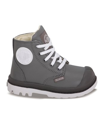 Metal & White Leather Pampa Hi-Top Sneaker
