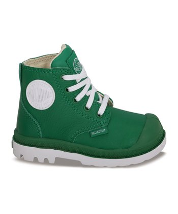 Green & White Leather Pampa Hi-Top Sneaker