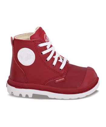 Red Leather Pampa Hi-Top Sneaker