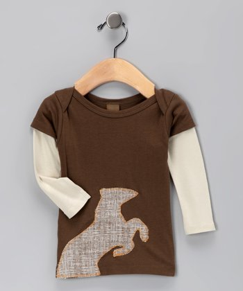 Brown Horse Organic Layered Tee