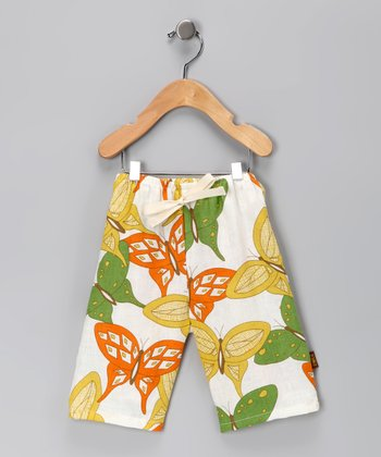 Citrus Butterflyc Linen Pants