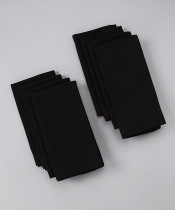 Fete Black Buffet Napkin - Set of Eight