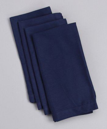 Navy Solid Napkin - Set of Four