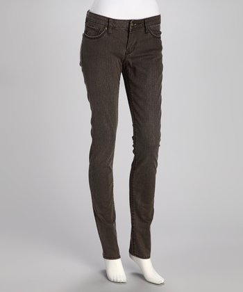 Gray Fade Skinny Pants