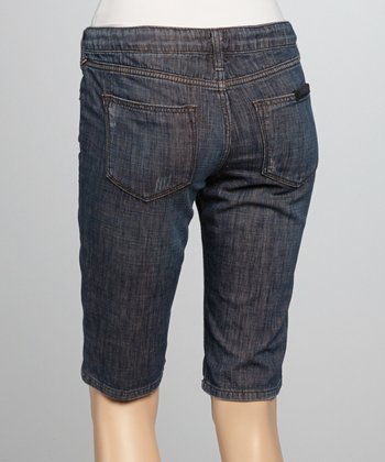 Blue Tractor Denim Bermuda Shorts